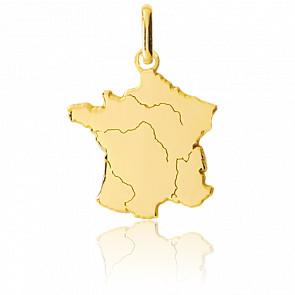 Colgante Francia 20 x 17 mm Oro Amarillo 9K