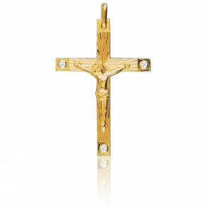 Cristo en Cruz 34 x 45 mm Oro Amarillo 18K
