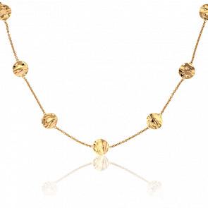 Collar Lunares Efecto Ondulado Oro Amarillo