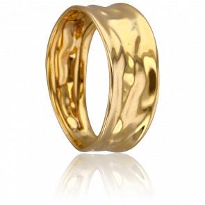 Anillo Ondulado Oro Amarillo