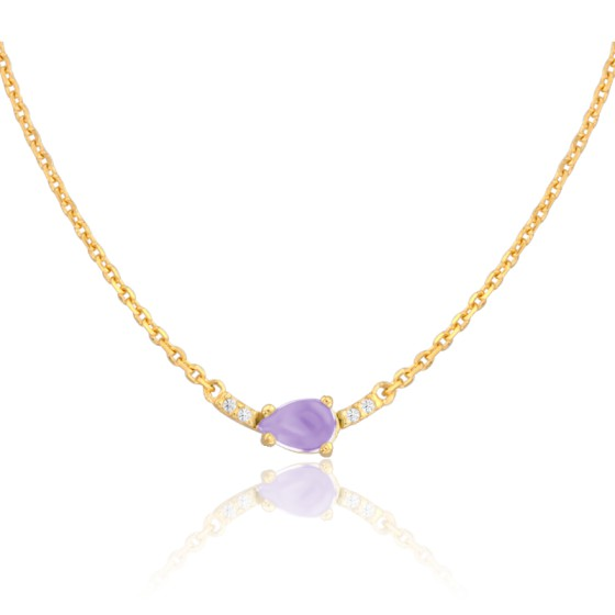84645e1b86cd Collar de oro 18 quilates y amatista firma Vandona - Ocarat
