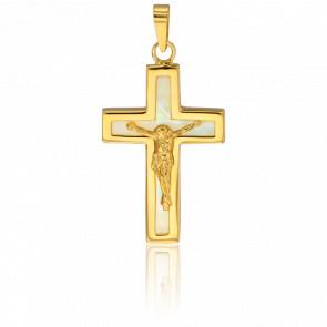 Cruz de Cristo de Oro Amarillo 9 Quilates