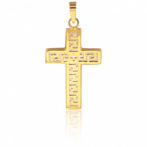 Colgante Cruz Símbolos Oro Amarillo 18 Quilates