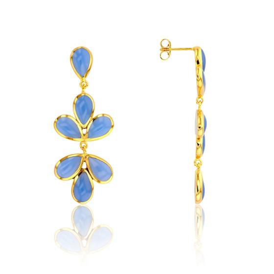 Pendientes Ramo Azul Cielo Collection Artemis