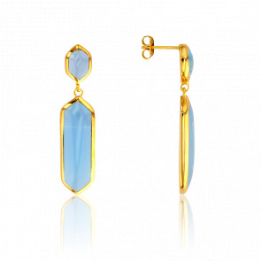 Pendientes Azul Claro Collection Vesta