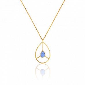 Collar Retro Azul Cielo Collection Artemis