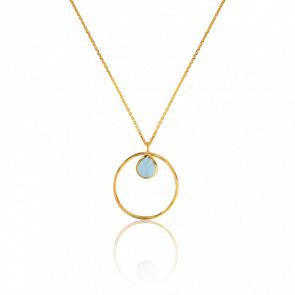 Collar Círculo Azul Claro Collection Rhea