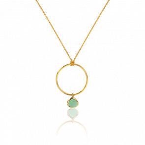 Collar Calcedonia Verde Collection Rhea