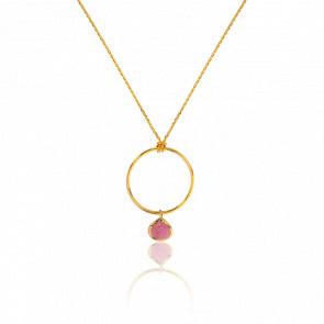 Collar Turmalina Rosa Collection Rhea