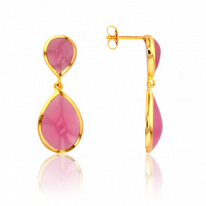 Pendientes Turmalina Rosa Collection Artemis