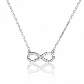 Collar Eternity Star Oro Blanco y Diamantes