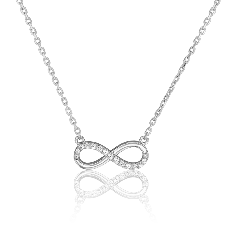 d06ca4d2c9ad Ocarat Collar Eternity Star Oro Blanco y Diamantes
