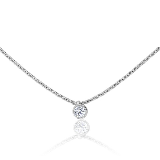 da563e3e1e00 Collar Bright Oro Blanco 18K   Diamante 0