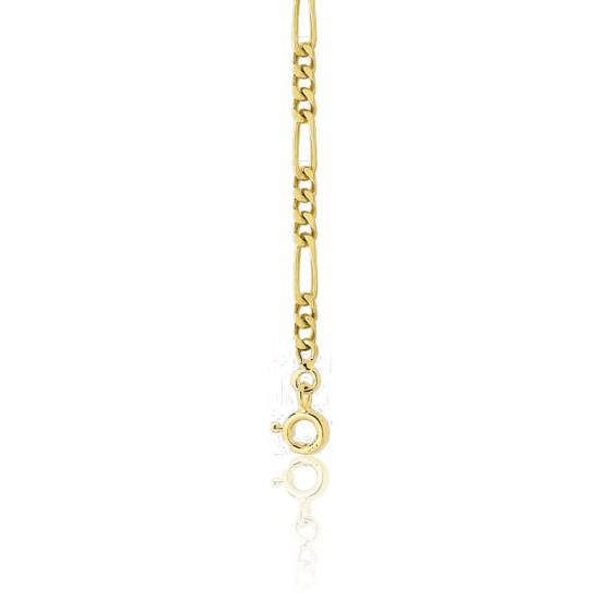 6e849f905d43 Pulsera cadena de oro Figaro 15 cm 3-1 - Manillon - Ocarat