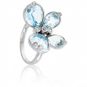 Anillo Mariposa Topacio & Diamantes