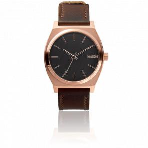 Reloj The Time Teller Rosa Gold / Gunmetal / Brown  - A045 2001