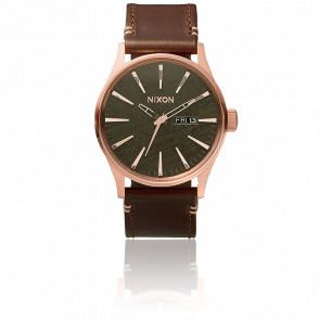 Reloj The Sentry Leather Rosa Gold / Gunmetal / Brown - A105 2001