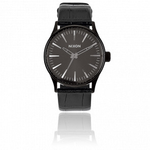 Reloj The Sentry 38 Leather Black Gator - A377 1886
