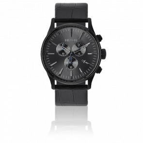 Reloj The Sentry Chrono Leather Black Gator