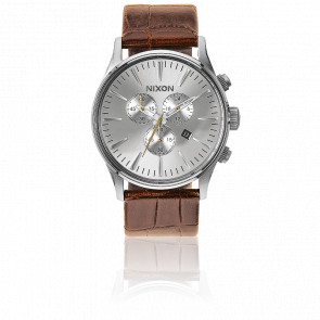 Reloj The Sentry Chrono Leather Saddle Gator