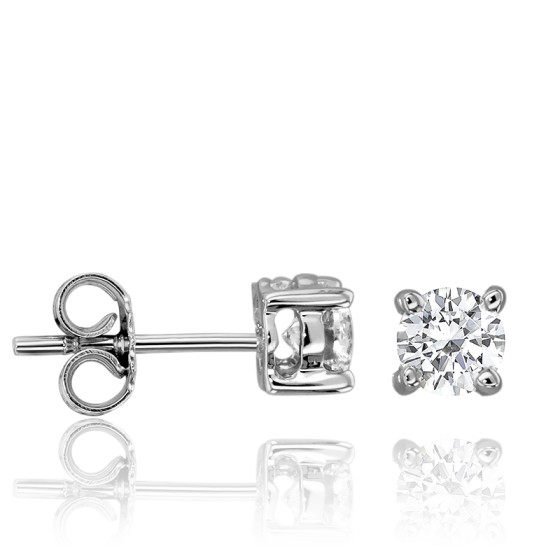 443b15c402a8 Pendientes de Oro Blanco y Diamante 0.50ct de Juweel - Ocarat