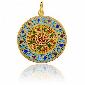 Medalla Vidriera Notre-Dame Ouest Oro Amarillo 18K