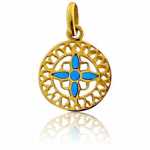 Medalla Vidriera Mont St-Michel Oro Amarillo 18K