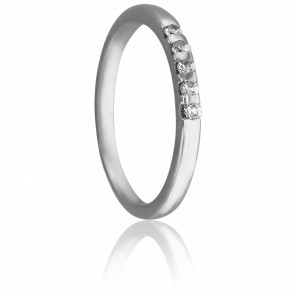 Alianza Mónica 1,65 mm Plata & Diamantes