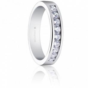 Alianza Alejandra Oro Blanco 18K y Diamantes 0,54 ct