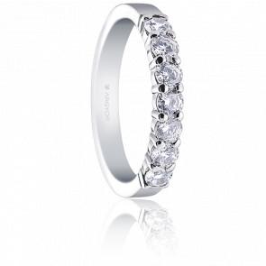 Alianza Lucía Oro Blanco 18K y Diamantes 0,70 ct