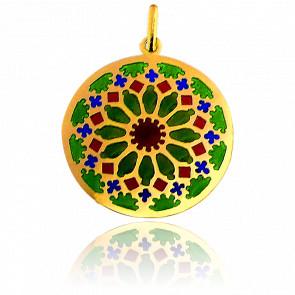 Medalla Vidriera Chartres Oro Amarillo 18K