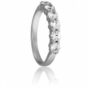 Alianza Querida 3 mm Plata & Diamantes