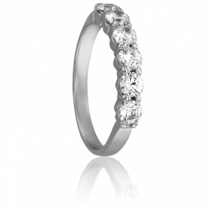 Alianza Querida 3,00 mm Oro Blanco 18K & Diamantes 1,00 ct