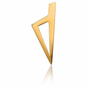 Colgante Córcega Oro Amarillo dimensiones 25 x 10 mm