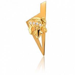Colgante Córcega & Moro 25 x 10 mm Oro Amarillo & Diamantes