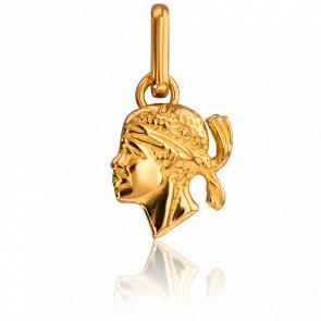 Colgante Cabeza de moro 10 x 0,80 mm Oro Amarillo