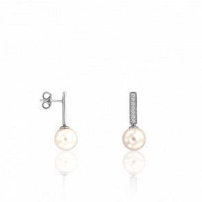 Pendientes Paola Perla & Diamantes 0,25 ct