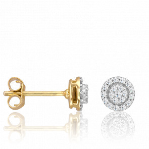 Pendientes Chandrika Oro Amarillo 18K y Diamantes