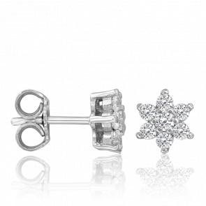 Pendientes Ariella Diamantes 0,48 ct & Oro Blanco 18K