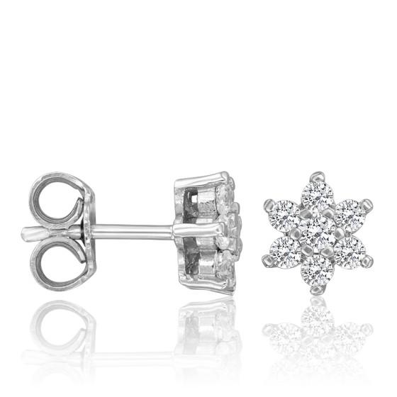 1d79e1000d4b Pendientes de Oro Blanco y Diamantes 0