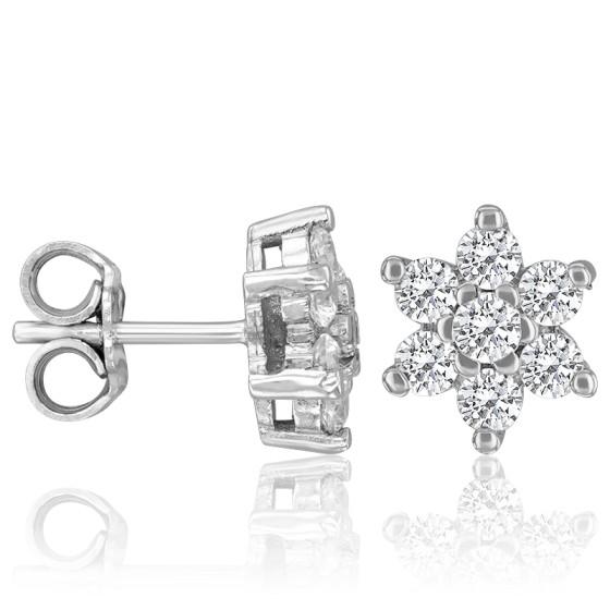 36174fa1af9b Pendientes con Diamantes y Oro estrella - Argyor - Ocarat