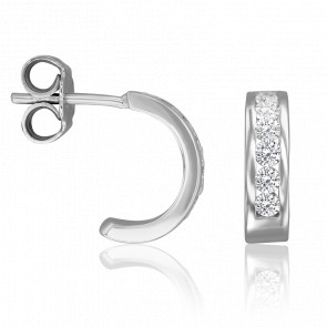 Pendientes Angelina Diamantes 0,36 ct & Oro Blanco 18K