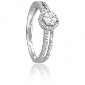 Anillo Aloki Oro Blanco 18K y Diamantes
