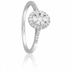 Anillo Sanchali Oro Blanco 18K y Diamantes