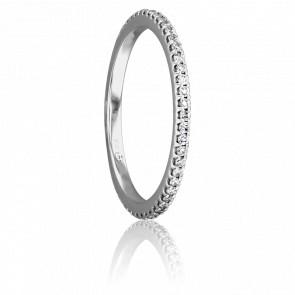Alianza Platino y Diamantes G/SI 0.25 ct, Bianca