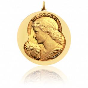 Medalla Sainte Agnès Oro