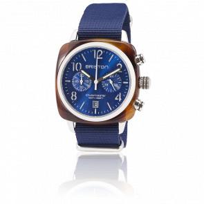 Reloj Clubmaster Crono Fecha Tortoise y Azul