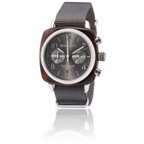 Reloj Clubmaster Crono Fecha Tortoise Gris