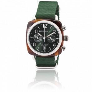 Reloj Clubmaster Crono Fecha Tortoise Verde inglés