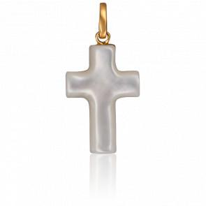 Colgante Cruz de Nácar y Oro Amarillo 18K